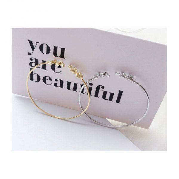 Gold Olive Leaf Bracelet