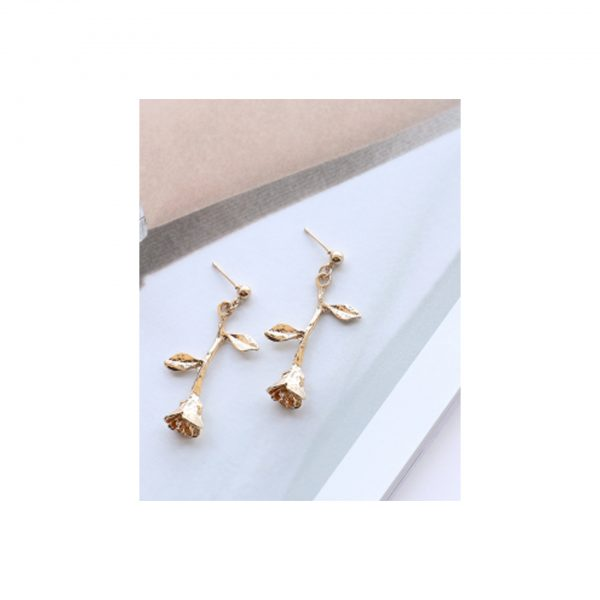Golden Rose Earings