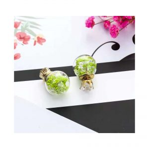 Green Trapped Fauna Earings