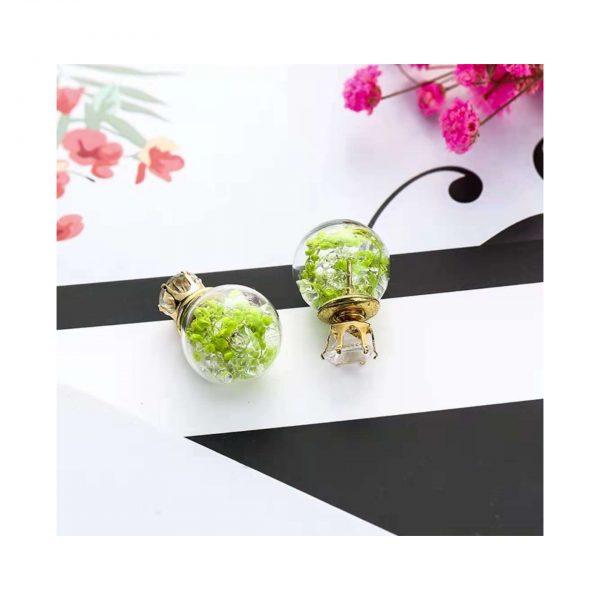 Green Trapped Fauna Earings