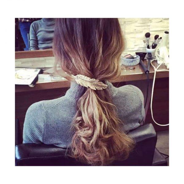 Gold Leaf Hair Clip