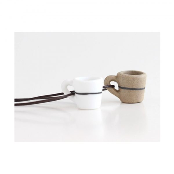 Brown Coffee Cup Pendant